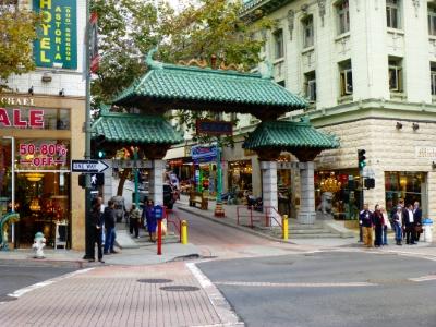 San Francisco Chinatown Entrance at Bush and Grant Bl.
