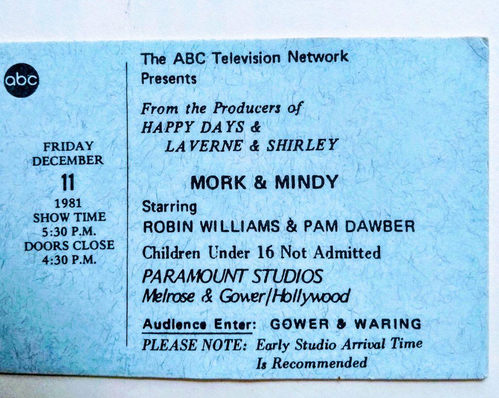 tv taping ticket